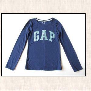 Gap Kids Factory XXL 13 Navy Blue Glitter Shirt